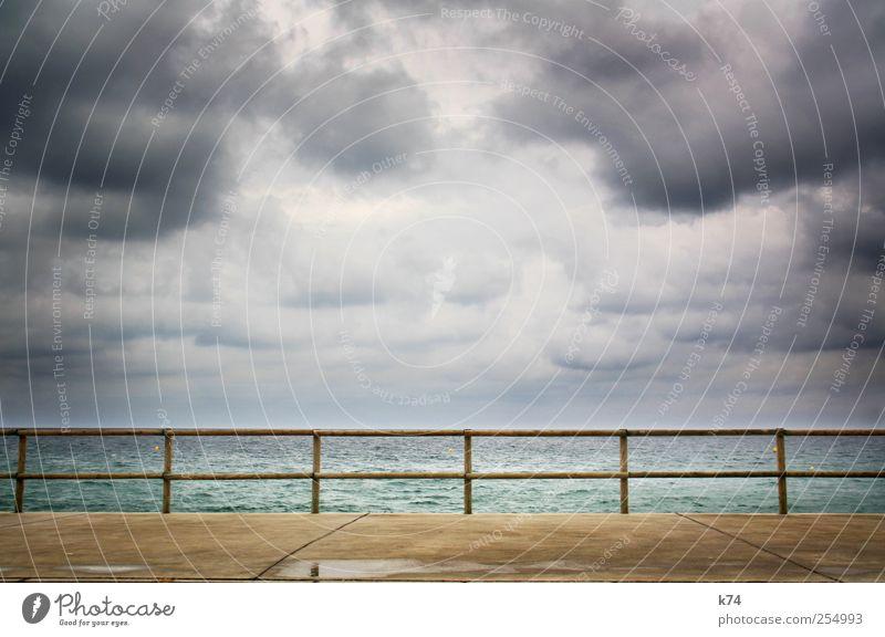 14-teiliges Meer Himmel Wasser Wolken Küste Stein Wetter Horizont bedrohlich Wut stark Unwetter schlechtes Wetter Gewitterwolken