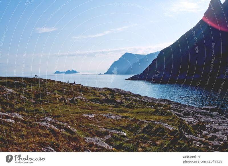 Å Polarmeer Europa Felsen Ferien & Urlaub & Reisen Fjord Himmel Himmel (Jenseits) Horizont Insel Halbinsel Landschaft Landzunge maritim Meer Menschenleer Natur