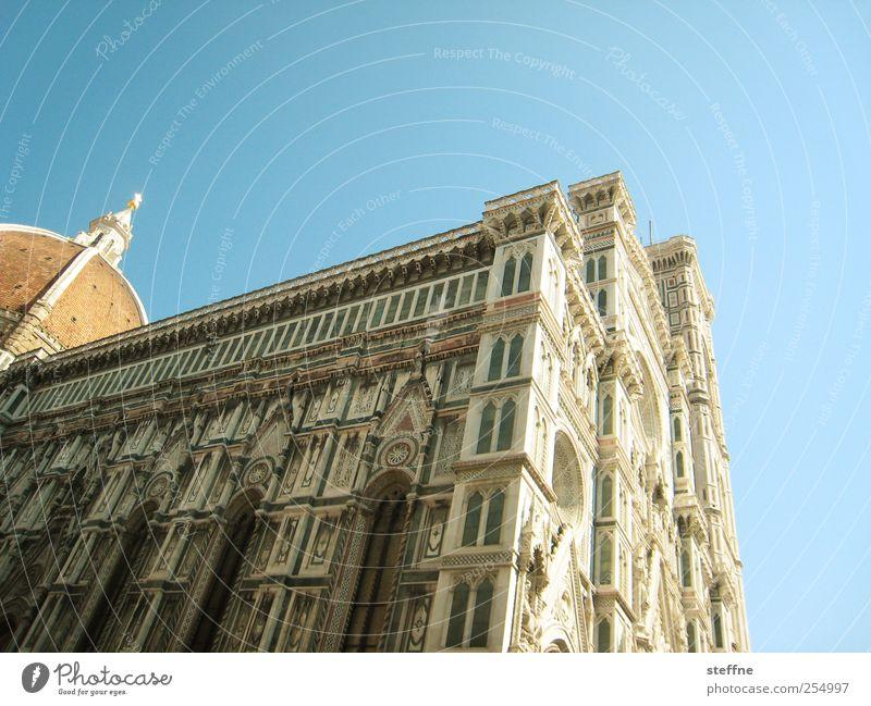 geblümte Maria Wolkenloser Himmel Schönes Wetter Florenz Italien Toskana Stadtzentrum Altstadt Kirche Dom Bauwerk Architektur Fassade Sehenswürdigkeit