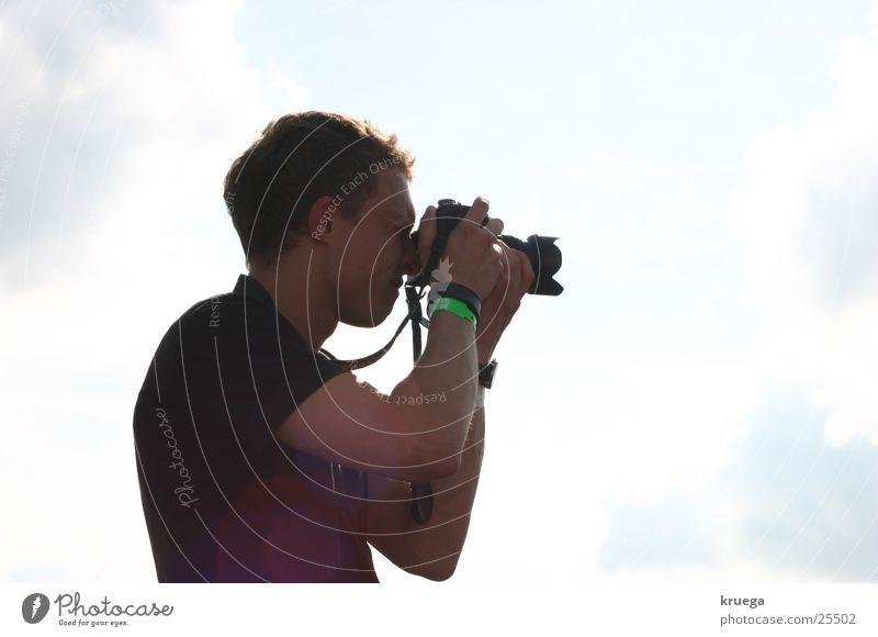 Schuss ins Blaue Sonne Wolken Fotokamera Medien Fotograf