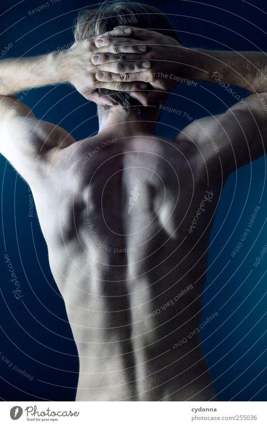 Ein schöner Rücken kann auch entzücken Mensch Mann Jugendliche Erwachsene Leben Sport nackt träumen Gesundheit Körper Kraft Haut maskulin ästhetisch