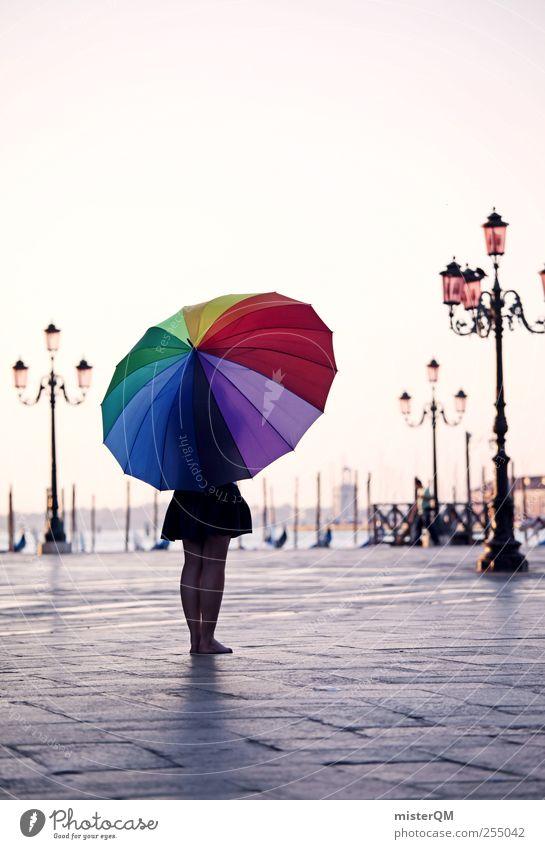 Let's Colour Venice VI Kunst Abenteuer ästhetisch Tourismus verrückt außergewöhnlich Reisefotografie Idylle Regenschirm Kreativität fantastisch Laterne skurril