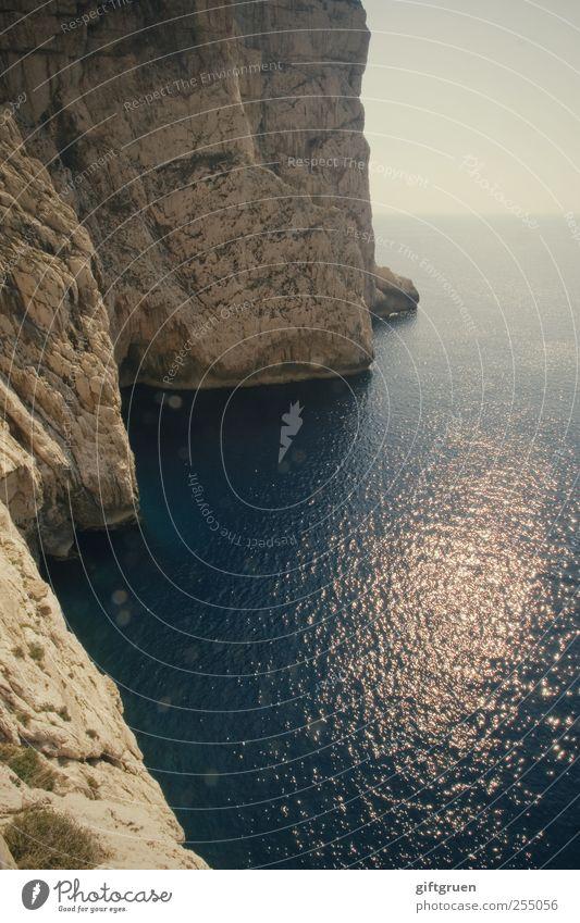 waves of light Himmel Natur Wasser blau Sonne Meer Umwelt Landschaft Küste Stein Wellen Horizont Erde Felsen hoch groß