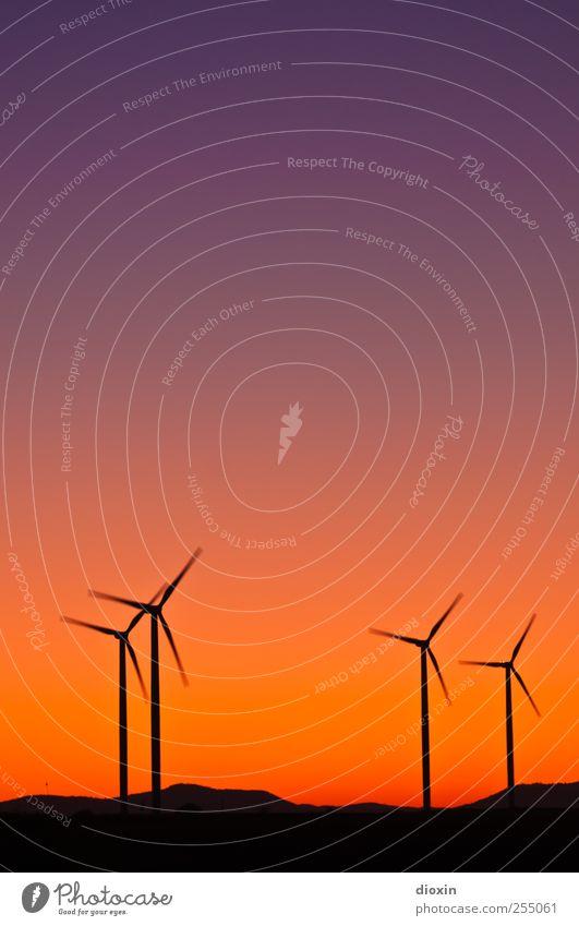 Farbwind [4] Himmel Farbe Umwelt Landschaft Wind hoch Energie groß Energiewirtschaft Klima Hügel Windkraftanlage drehen Schönes Wetter Windrad