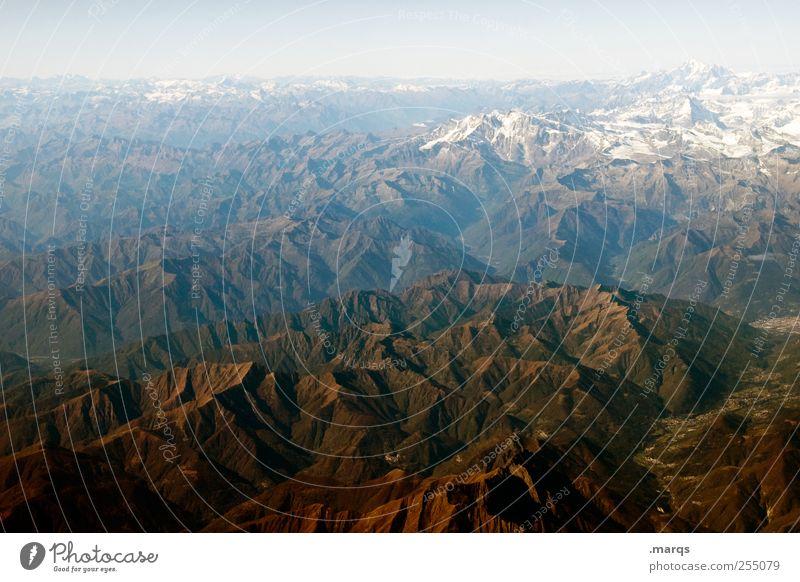 Alpin Himmel Natur Farbe Berge u. Gebirge Horizont Erde Alpen Unendlichkeit Gipfel Schönes Wetter Klimawandel Schneebedeckte Gipfel