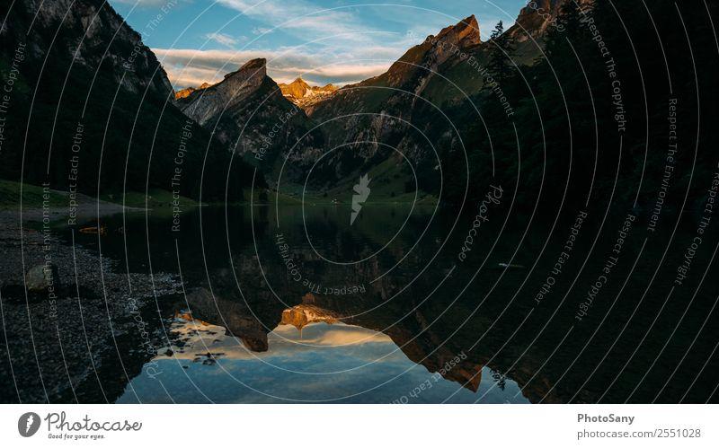 Guten Morgen schöne Schweiz Berge u. Gebirge Alpen Appenzellerland See Bergsee Sonnenaufgang Sonnenaufgang - Morgendämmerung Spiegelung Spiegelung im Wasser