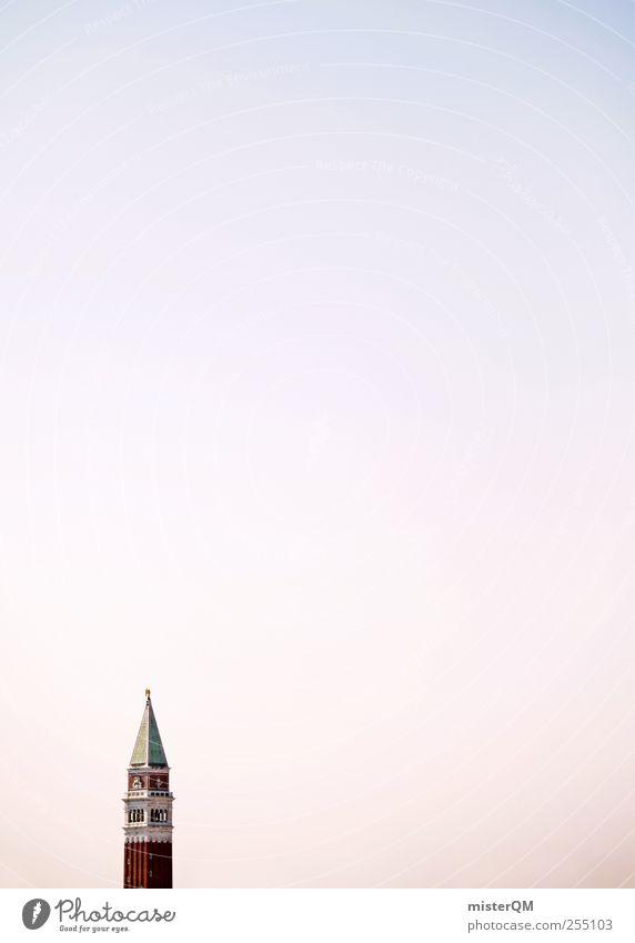 San Marco. Himmel Ferien & Urlaub & Reisen Ferne Kunst Horizont Zufriedenheit Reisefotografie Tourismus ästhetisch Turm Spitze einfach Textfreiraum Sehenswürdigkeit Blauer Himmel Venedig