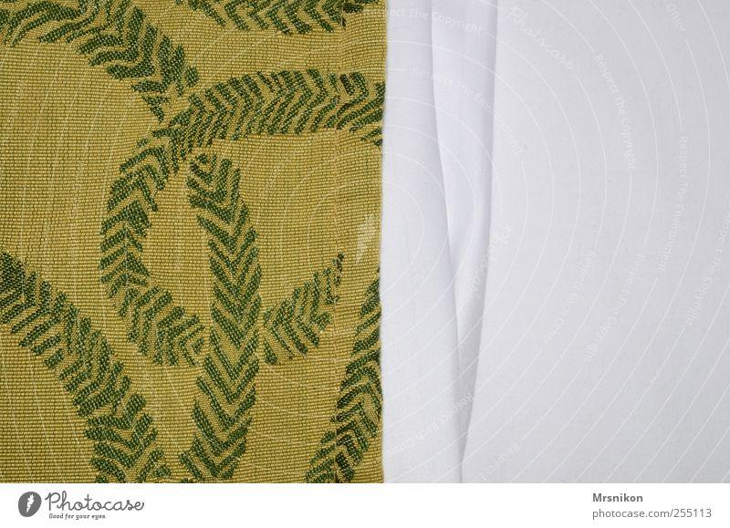 zwischen den laken Häusliches Leben Wohnung Dekoration & Verzierung Bett Raum Schlafzimmer Ornament Linie gold grün weiß Stil Bettwäsche Stoff Bettlaken Muster