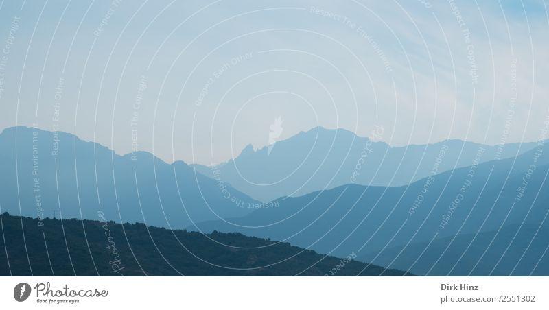 Morgendunst im Fangotal / Korsika Ferien & Urlaub & Reisen Tourismus Ausflug Ferne wandern Umwelt Natur Landschaft Himmel Horizont Klima Nebel Wald Hügel Felsen