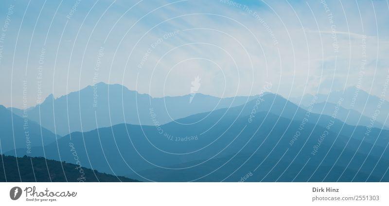 Morgendunst im Fangotal / Korsika Ferien & Urlaub & Reisen Tourismus Ausflug Ferne Berge u. Gebirge wandern Umwelt Natur Landschaft Erde Himmel Hügel Felsen