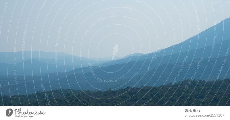 Morgendunst im Fangotal / Korsika Ferien & Urlaub & Reisen Tourismus Ausflug Ferne Berge u. Gebirge wandern Natur Landschaft Horizont Klima Nebel Wald Hügel