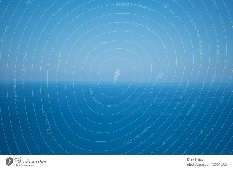 Segelboote in der Weite des Mittelmeers Natur Ferien & Urlaub & Reisen Sommer blau Wasser Landschaft Meer Einsamkeit Ferne Umwelt Wege & Pfade Tourismus