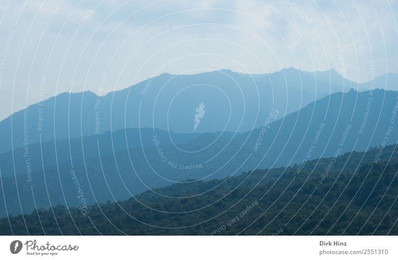 Morgendunst im Fangotal / Korsika Ferien & Urlaub & Reisen Tourismus Ausflug Ferne Umwelt Natur Landschaft Luft Himmel Horizont Hügel Berge u. Gebirge Gipfel