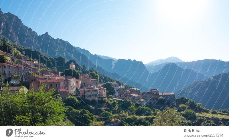 Bergdorf Ota auf Korsika Himmel Natur Ferien & Urlaub & Reisen alt Landschaft Haus Ferne Berge u. Gebirge Umwelt natürlich Tourismus Freiheit Ausflug Felsen