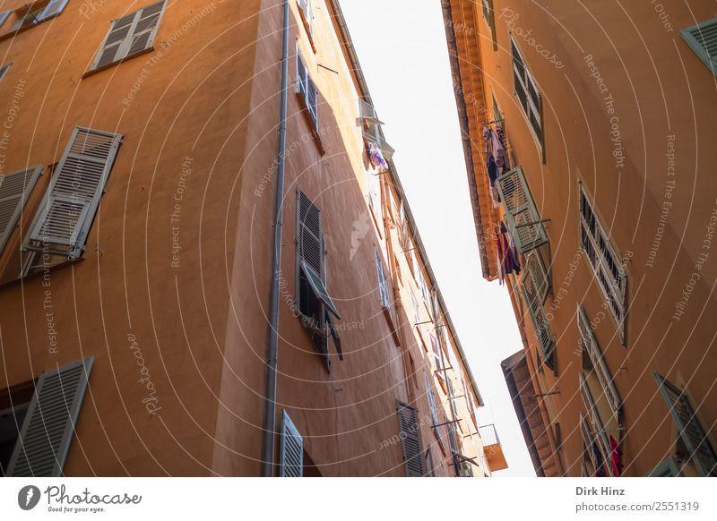 Altstadt von Nizza Stadt Hafenstadt Stadtzentrum Haus Bauwerk Gebäude Architektur Mauer Wand Fassade Sehenswürdigkeit historisch Kultur Nostalgie Tourismus