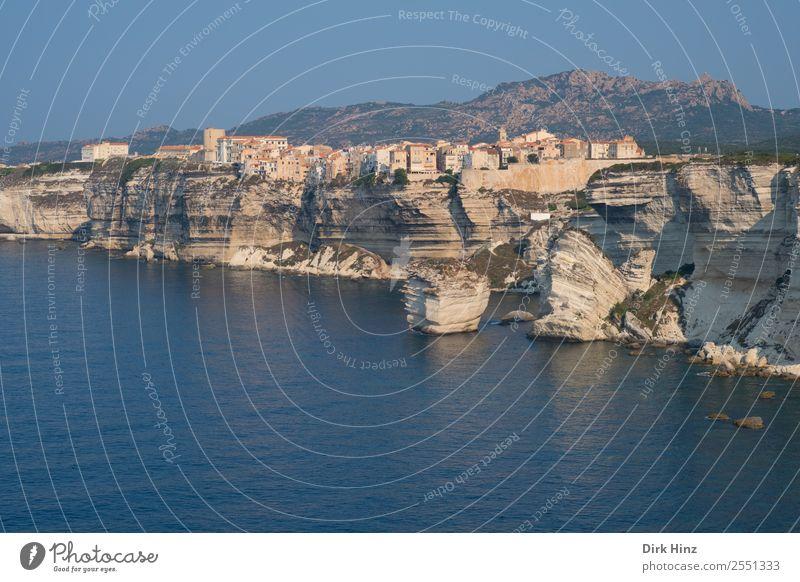 Blick auf die Küste von Bonifacio / Korsika Ferien & Urlaub & Reisen Tourismus Ausflug Ferne Freiheit Städtereise Kreuzfahrt Sommer Sommerurlaub Umwelt Natur