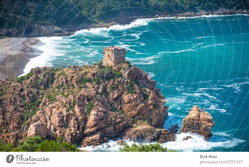 Bucht von Marine de Porto auf Korsika Ferien & Urlaub & Reisen Tourismus Ausflug Ferne Sightseeing Sommerurlaub Strand Meer Wellen Umwelt Natur Landschaft