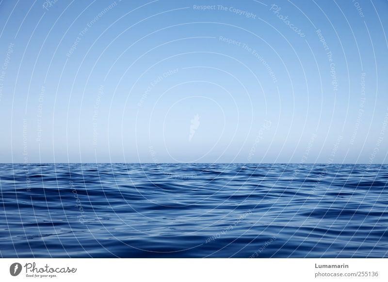 basics Natur blau Wasser schön Ferien & Urlaub & Reisen Meer Erholung Umwelt kalt Luft Stimmung Horizont Klima natürlich groß frisch