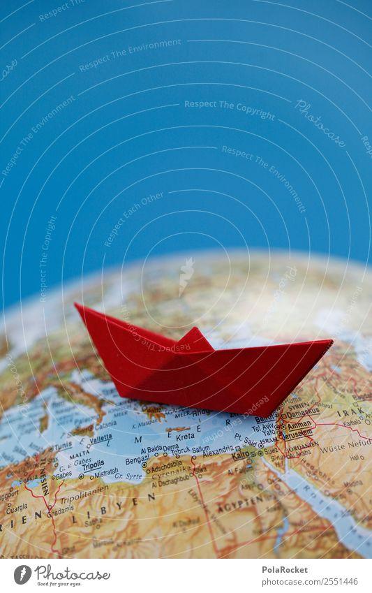 #A# Schiffbruch Kunst Kunstwerk Kitsch Flüchtlinge Wasserfahrzeug Bootsfahrt Schifffahrt Kreuzfahrt Globus Güterverkehr & Logistik Farbfoto mehrfarbig