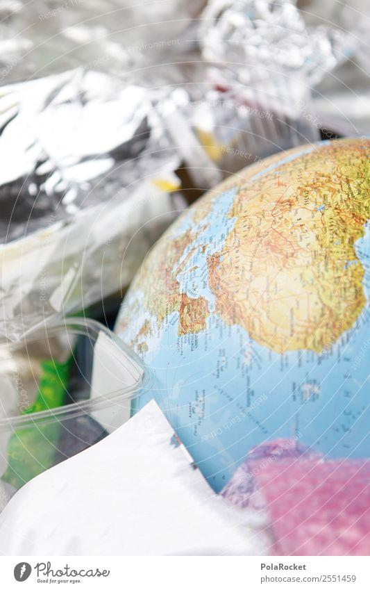 #A# vermüllt Kunst ästhetisch Erde Müll Müllbehälter Müllsack Müllabfuhr Müllverwertung Müllentsorgung Umweltverschmutzung Umweltschutz Klimawandel Globus
