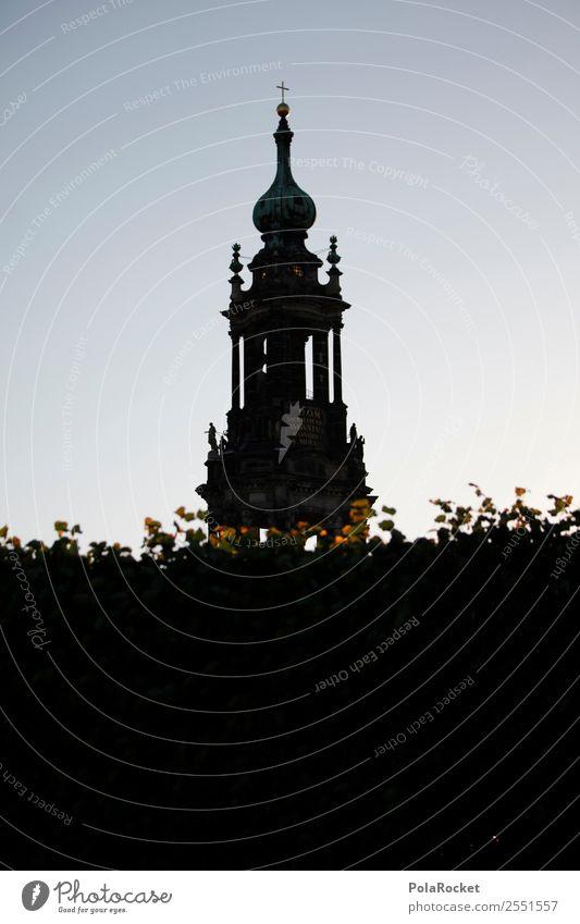 #A# Hofkirche Altstadt ästhetisch Hofkirche Dresden Sachsen Kirche Barock Farbfoto Gedeckte Farben Außenaufnahme Detailaufnahme Experiment abstrakt Menschenleer