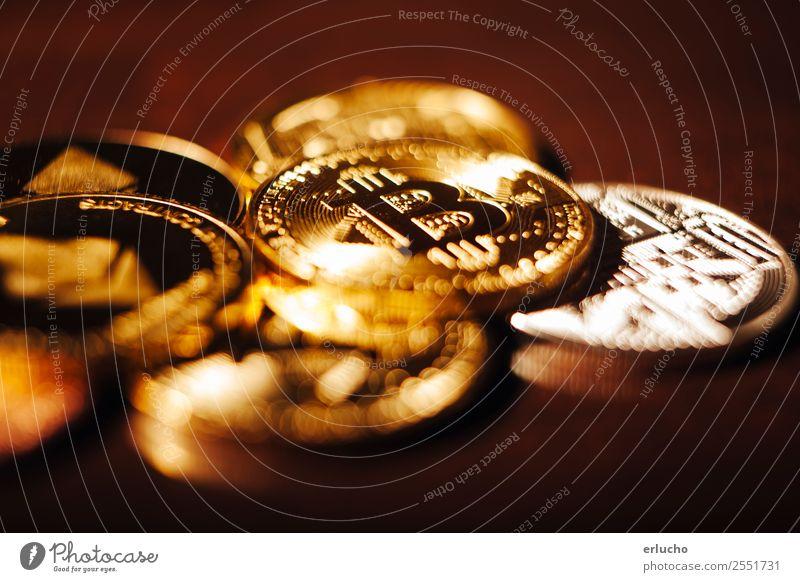 Krypto-Währung Geld Wirtschaft Kapitalwirtschaft Geldinstitut Business Computer Technik & Technologie Fortschritt Zukunft High-Tech Internet Metall Zeichen