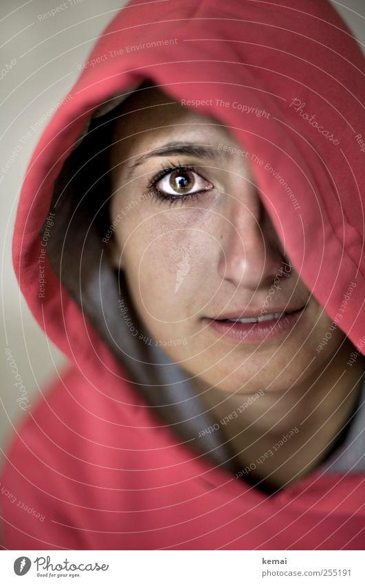 Nummer 6 Lifestyle Stil Gesicht Wimperntusche Freizeit & Hobby Mensch Junge Frau Jugendliche Erwachsene Leben Kopf Auge Nase Mund 1 18-30 Jahre Kapuzenpullover