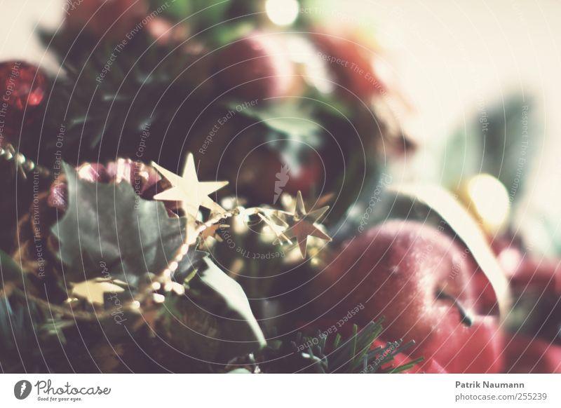 Vorfreude Frucht Apfel Stil Design Feste & Feiern Holz Schleife Duft glänzend genießen leuchten ästhetisch elegant Kitsch modern süß gold grün rot