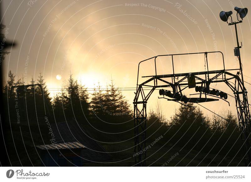 sonnenuntergang im schwarzwald Skilift Sonnenuntergang Baum Wolken Schwarzwald träumen Berge u. Gebirge ambient