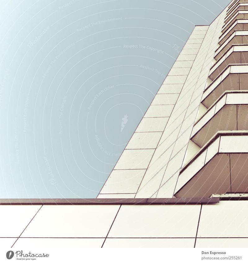 Sunny Side Hochhaus Architektur Linie Ordnung Grafik u. Illustration graphisch Fenster Columbuscenter Strukturen & Formen abstrakt Geometrie aufräumen
