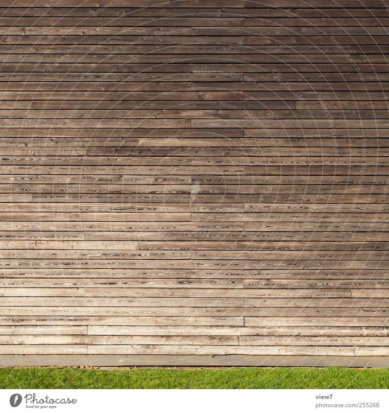 Holz vor der Hütte Haus Bauwerk Gebäude Architektur Mauer Wand Fassade Linie Streifen ästhetisch authentisch einfach frisch modern braun Beginn Design Ordnung