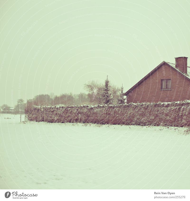 Natur weiß Winter ruhig Haus Schnee Umwelt Landschaft Stimmung Gelassenheit
