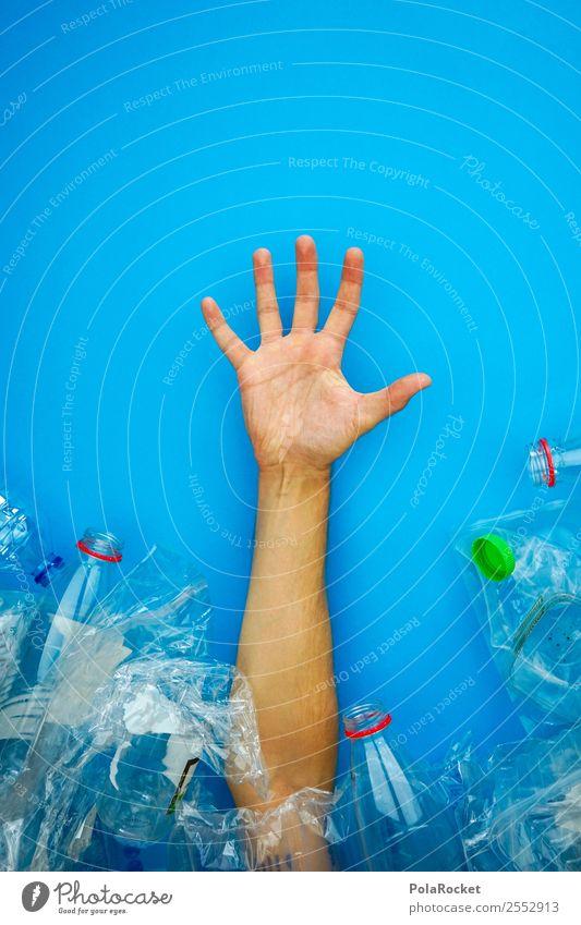#AS# Ausweg aus Verpackungsmüll Hand Kunst ästhetisch Zukunft Hilfsbereitschaft Futurismus Kunststoff Müll Umweltschutz nachhaltig Plastiktüte Recycling