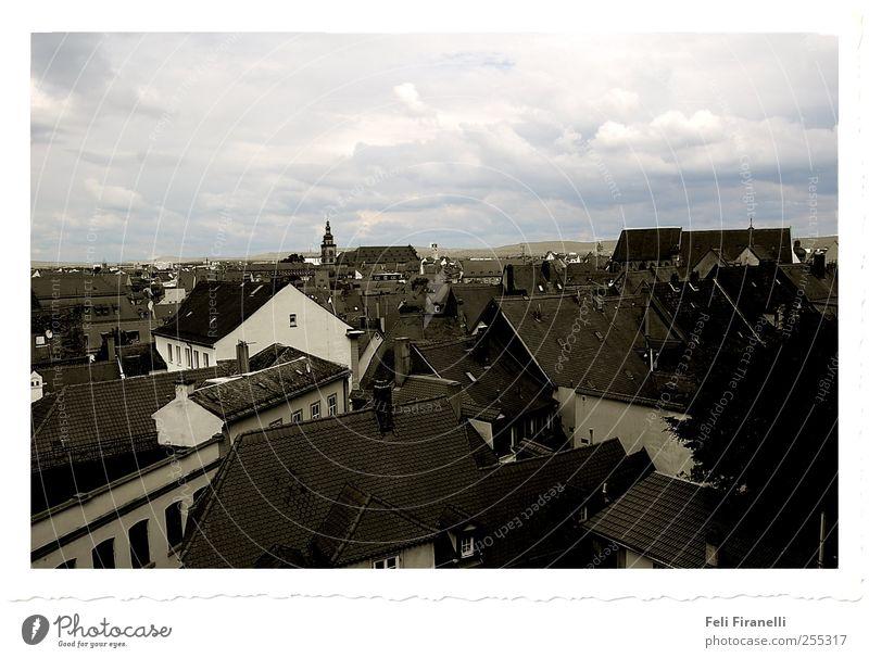 Über den Dächern von Deutschland Himmel Natur Stadt Winter Haus Gebäude Wetter Altstadt bevölkert