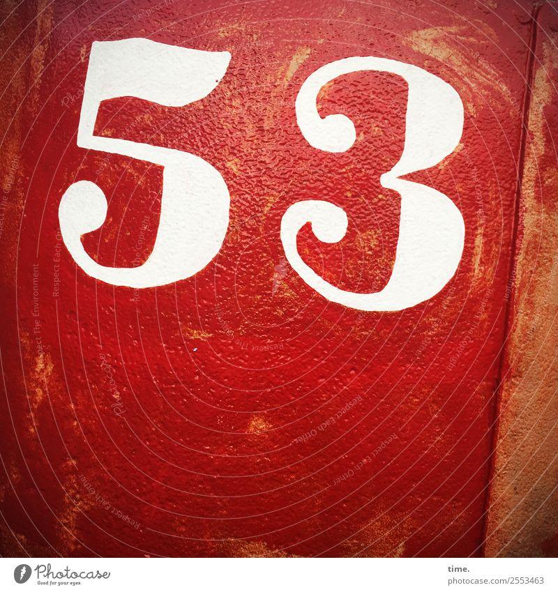 53 metall tageslicht farbe orientierung information zahl rot pink oldstyle handgemalt