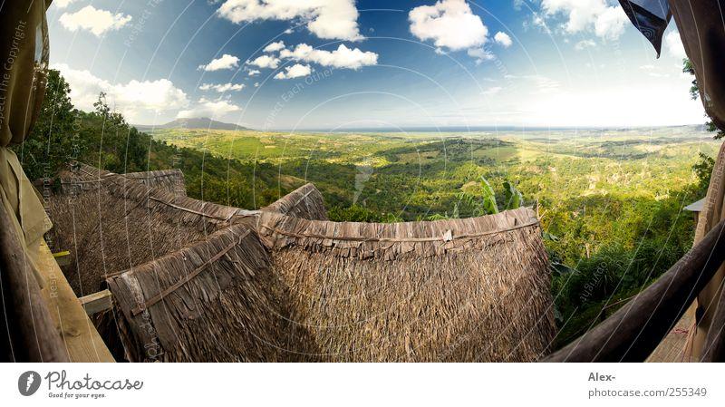 Blick über Tubagua Himmel Natur Sonne Ferien & Urlaub & Reisen Sommer Wolken Ferne Umwelt Freiheit Landschaft Berge u. Gebirge Garten Luft Ausflug Hügel