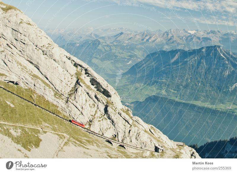 Für dich soll´s bunte Bilder regnen... Natur Wiese Landschaft Berge u. Gebirge träumen Wetter Felsen wandern Eisenbahn Alpen Schönes Wetter atmen Seilbahn