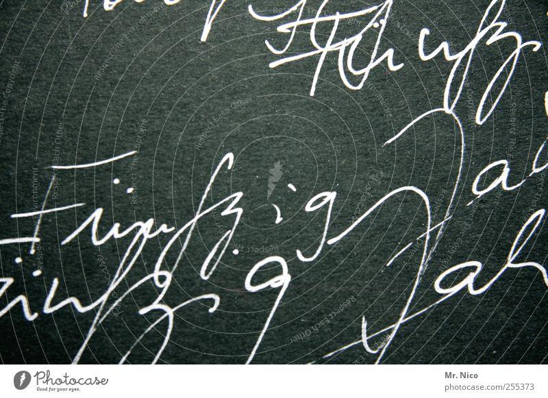 Für Dich soll's bunte Bilder regnen. alt Leben Feste & Feiern Schriftzeichen Ziffern & Zahlen schreiben Information Zeichen Tafel Typographie Lebensfreude 50 Handschrift Jubiläum Glückszahl Schrifttafel