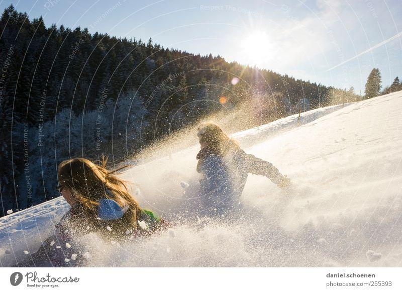 Für dich solls bunte Bilder regnen #2 Mensch Natur Ferien & Urlaub & Reisen Landschaft Freude Winter Gefühle Bewegung Schnee Glück Stimmung Eis Fröhlichkeit Geschwindigkeit Lebensfreude Schönes Wetter