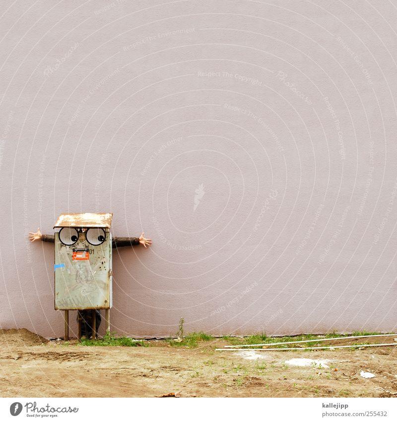 für dich soll´s bunte bilder regnen Mensch Auge Arme Hand 1 Blick Comicfigur Karnevalskostüm Freude Wand Textfreiraum Glückwünsche Farbfoto Außenaufnahme