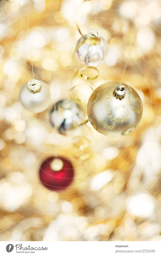 Für Dich soll's bunte Bilder regnen, MittagsFin Weihnachten & Advent schön hell Feste & Feiern gold glänzend leuchten rund Zeichen Kugel Christbaumkugel Vorfreude