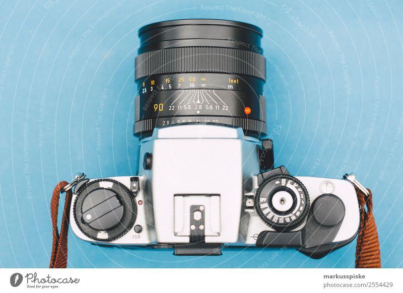 Analog Objektiv Fotokamera Spiegelreflex Lifestyle Stil Arbeit & Erwerbstätigkeit Design Freizeit & Hobby retro modern elegant ästhetisch Kreativität