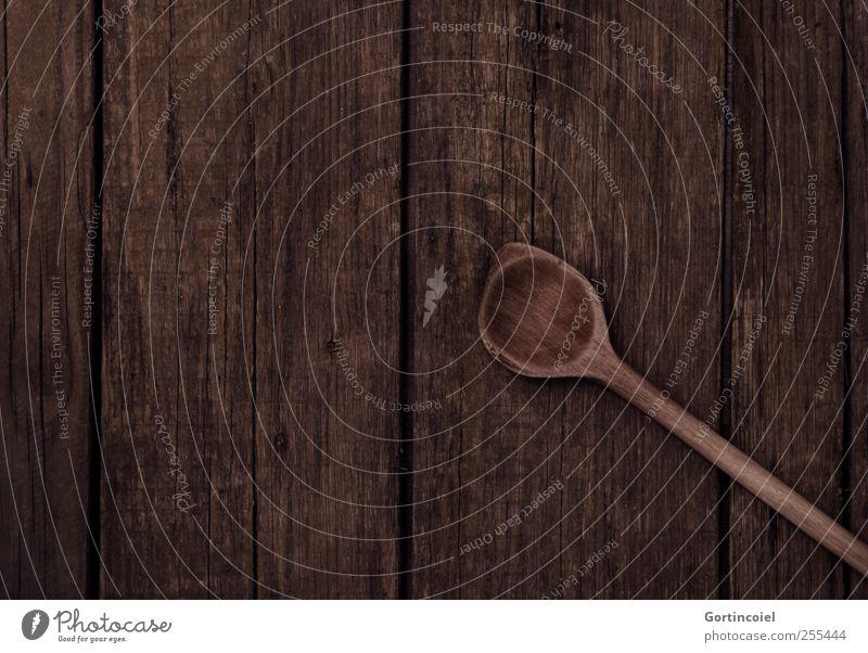 Für Dich soll's bunte Bilder regnen dunkel Ernährung braun Kochen & Garen & Backen Tradition Holztisch konventionell Kochlöffel Haushaltsgerät
