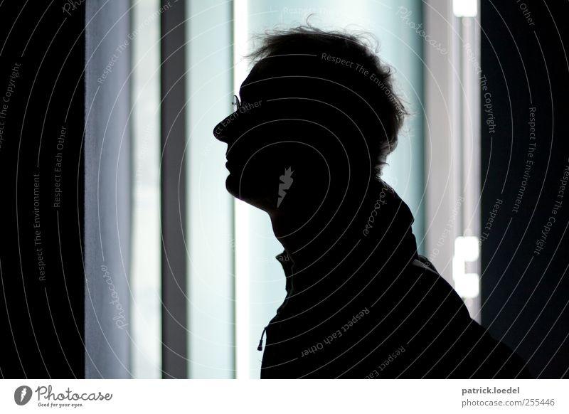 Für euch soll's bunte Bilder regnen Mensch Mann Erwachsene Kopf Haare & Frisuren warten maskulin