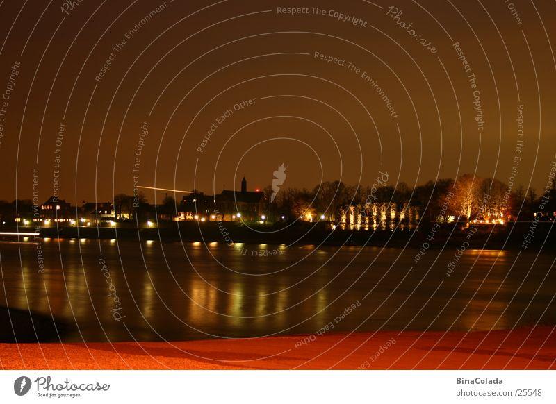 Rhein in Flammen Wasser Himmel Haus dunkel Küste Fluss Nachthimmel Nachtaufnahme