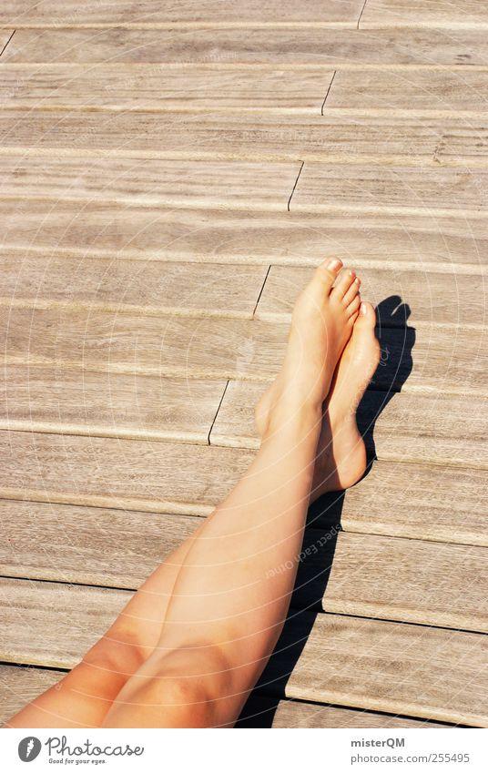 Chillin. Frau Sommer Erholung Freiheit Beine Kunst Freizeit & Hobby ästhetisch Schönes Wetter Sonnenbad Sommerurlaub Barfuß
