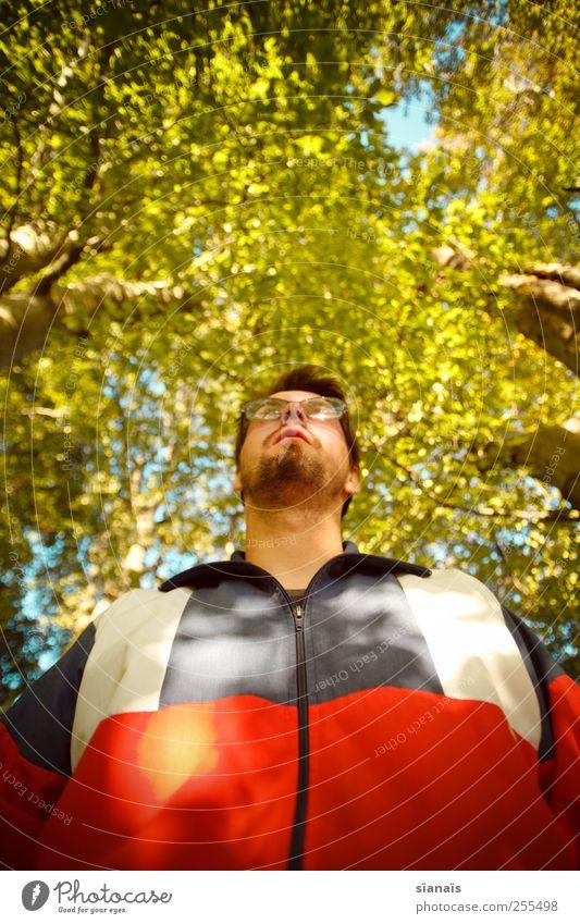 natural born nerd Mensch Mann Natur Jugendliche Erwachsene Wald Umwelt Stil Luft Freizeit & Hobby gehen maskulin stehen Lifestyle Hoffnung Brille