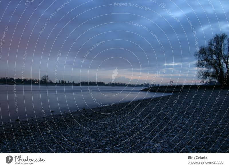 Blue Evening Natur Wasser Himmel Wolken Landschaft Küste Fluss Nachthimmel