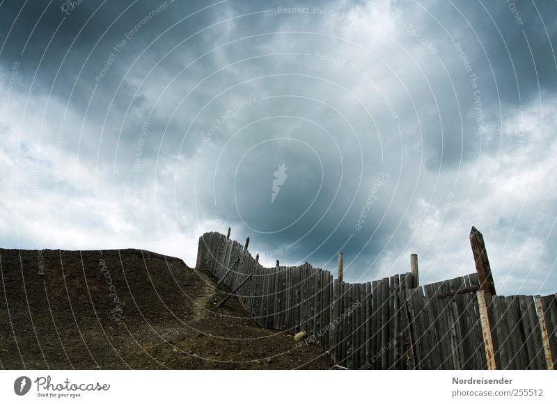 Mordor Wolken Einsamkeit dunkel Landschaft Wege & Pfade Angst Macht bedrohlich Trauer Urelemente gruselig Sturm Zaun Unwetter Konflikt & Streit Verzweiflung