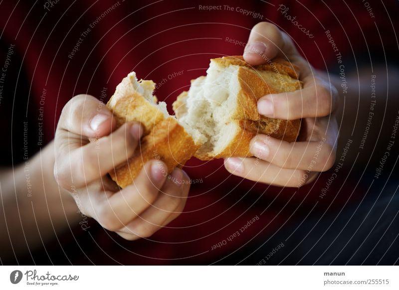 Für Dich soll's bunte Bilder regnen... und was zu essen! Hand Essen natürlich Lebensmittel authentisch Finger Ernährung einfach berühren festhalten Appetit & Hunger Teilung machen Bioprodukte Brot brechen